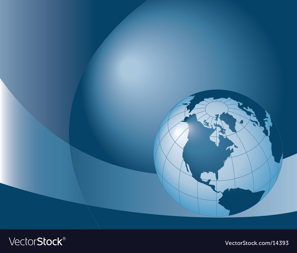 Globe blue vector | Price: 1 Credit (USD $1)