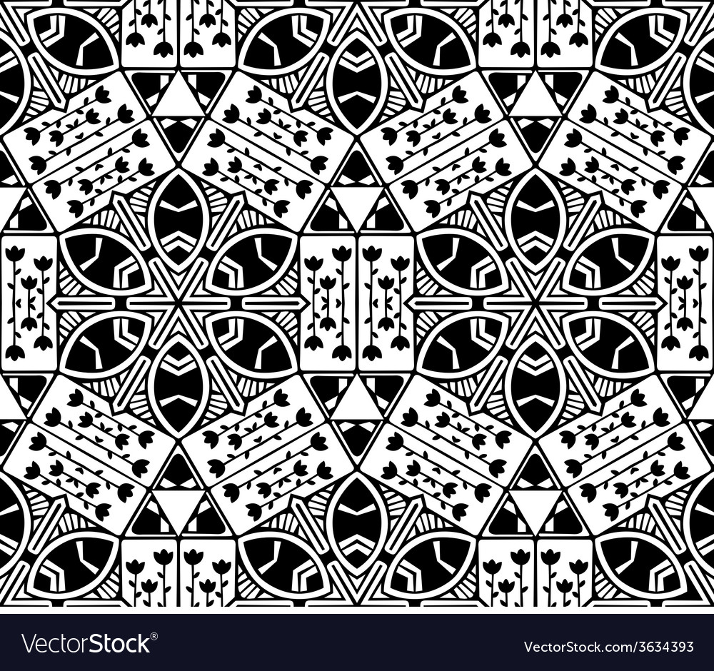 Seamless nature geometric pattern vector | Price: 1 Credit (USD $1)
