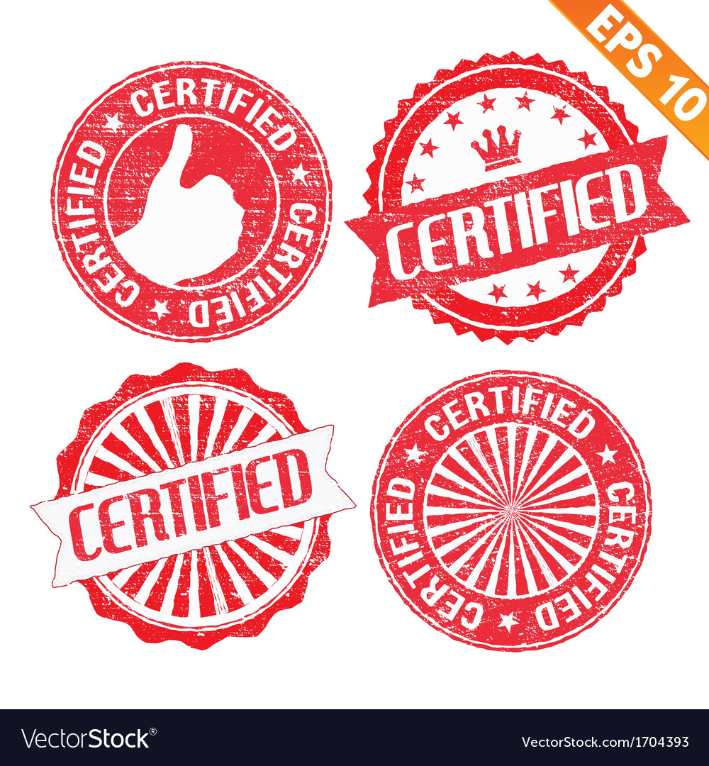 Stamp sticker certified collection - - eps1 vector | Price: 1 Credit (USD $1)
