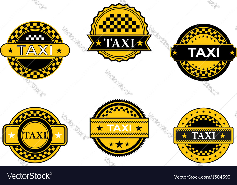 Taxi symbols and signs vector   Price: 1 Credit (USD $1)