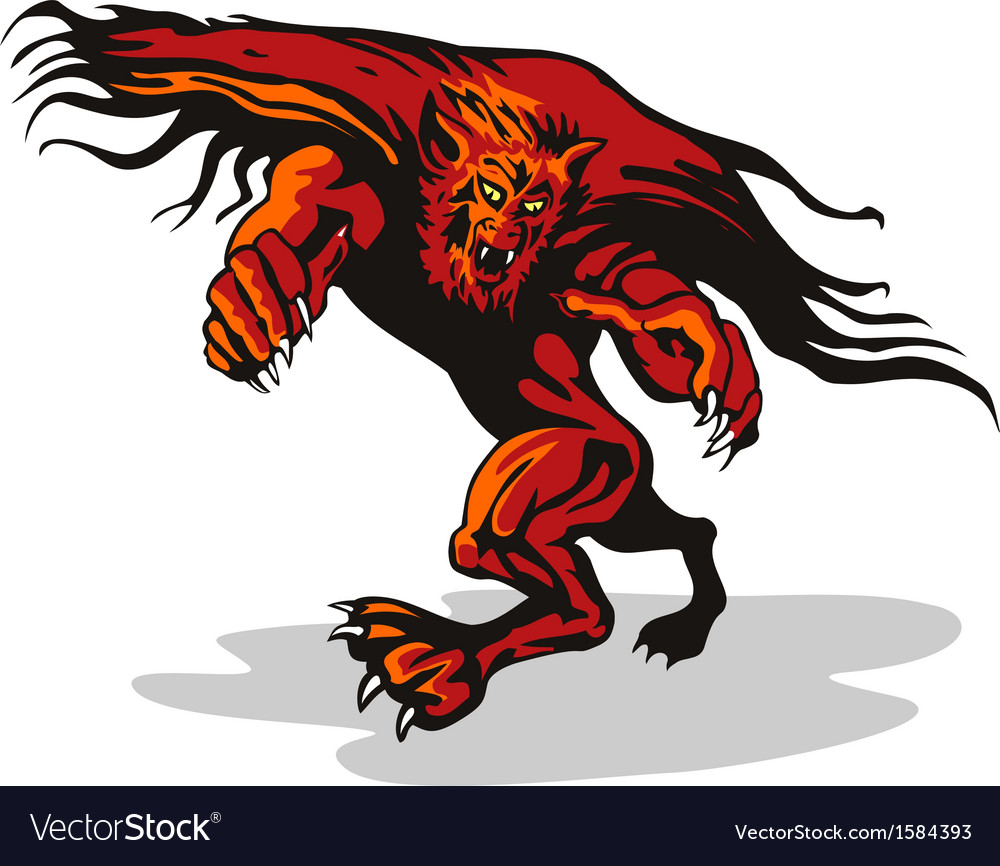 Werewolf monster vector | Price: 1 Credit (USD $1)