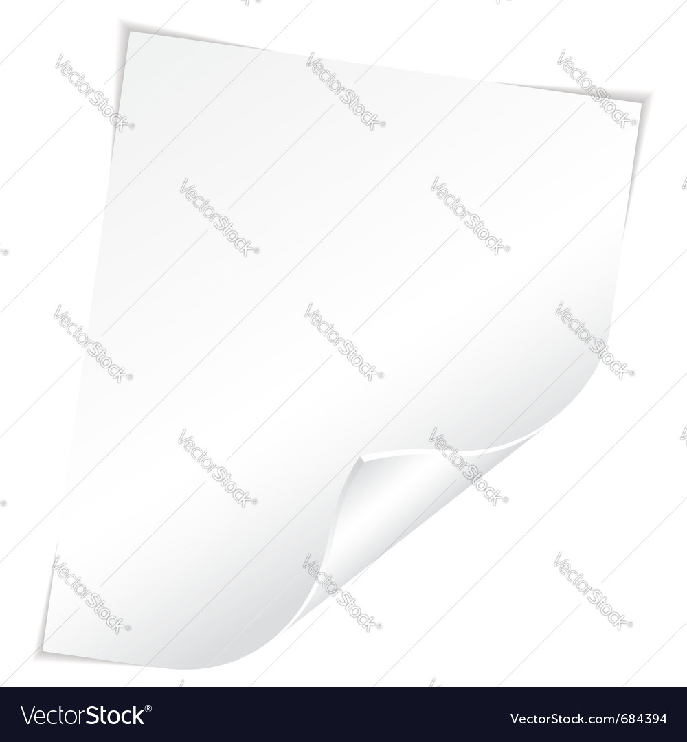 Blank sheet vector | Price: 1 Credit (USD $1)