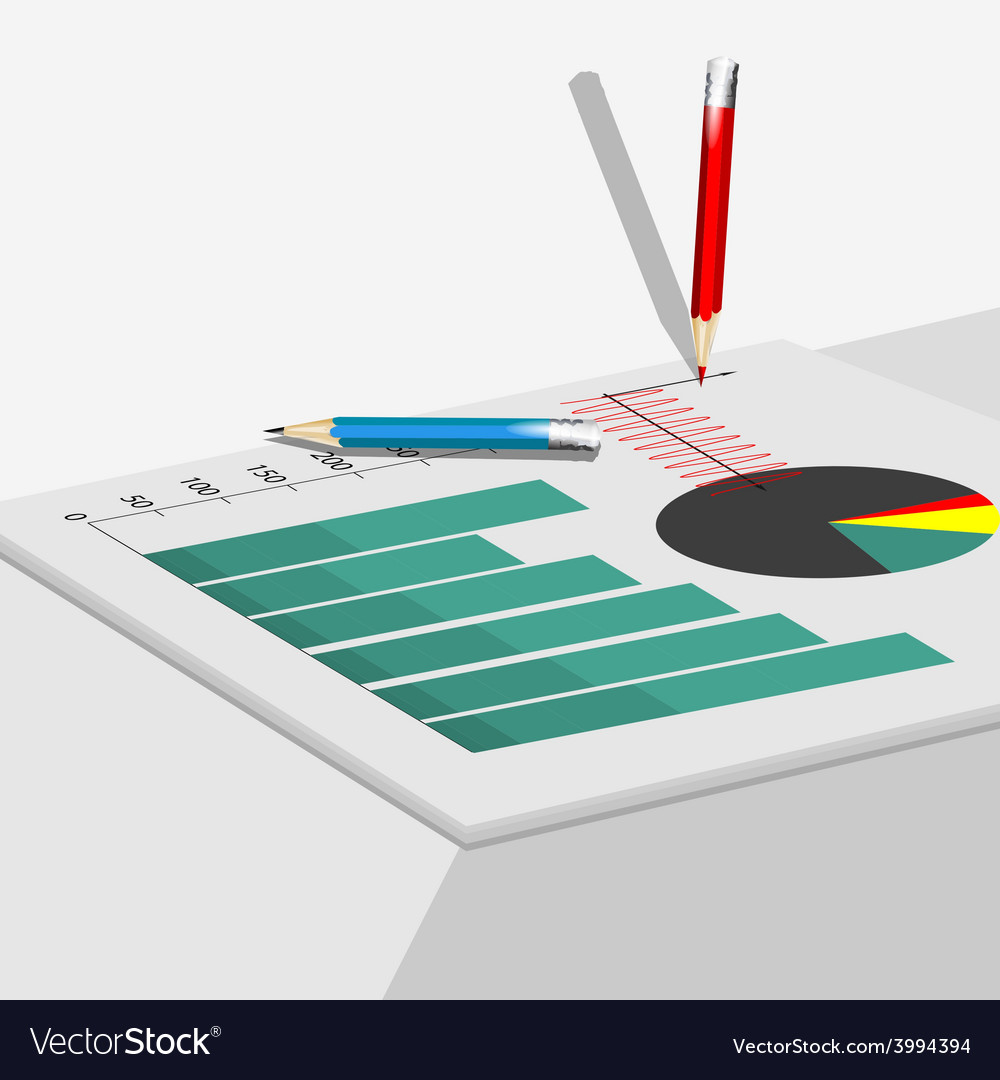 Documents on table vector | Price: 1 Credit (USD $1)