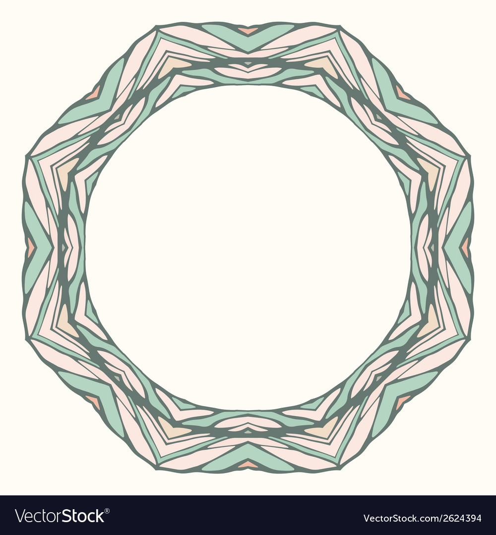Ethnic round mandala ornamental frame abstract vector | Price: 1 Credit (USD $1)