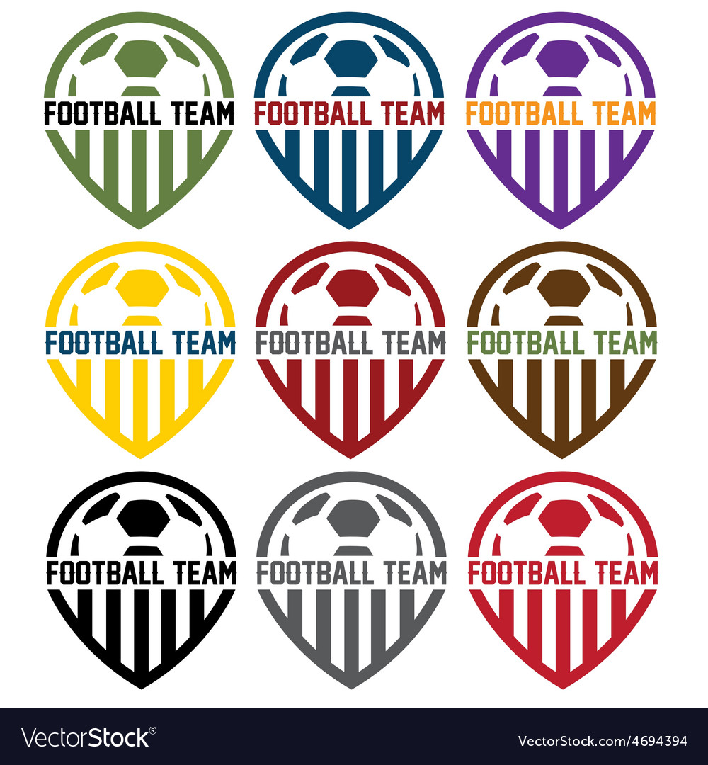 Football team labels set vector | Price: 1 Credit (USD $1)