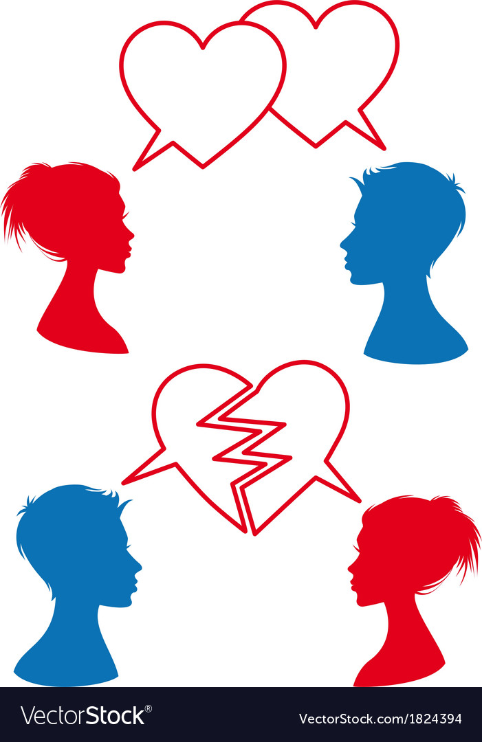 Love and relationship speech bubbles vector | Price: 1 Credit (USD $1)