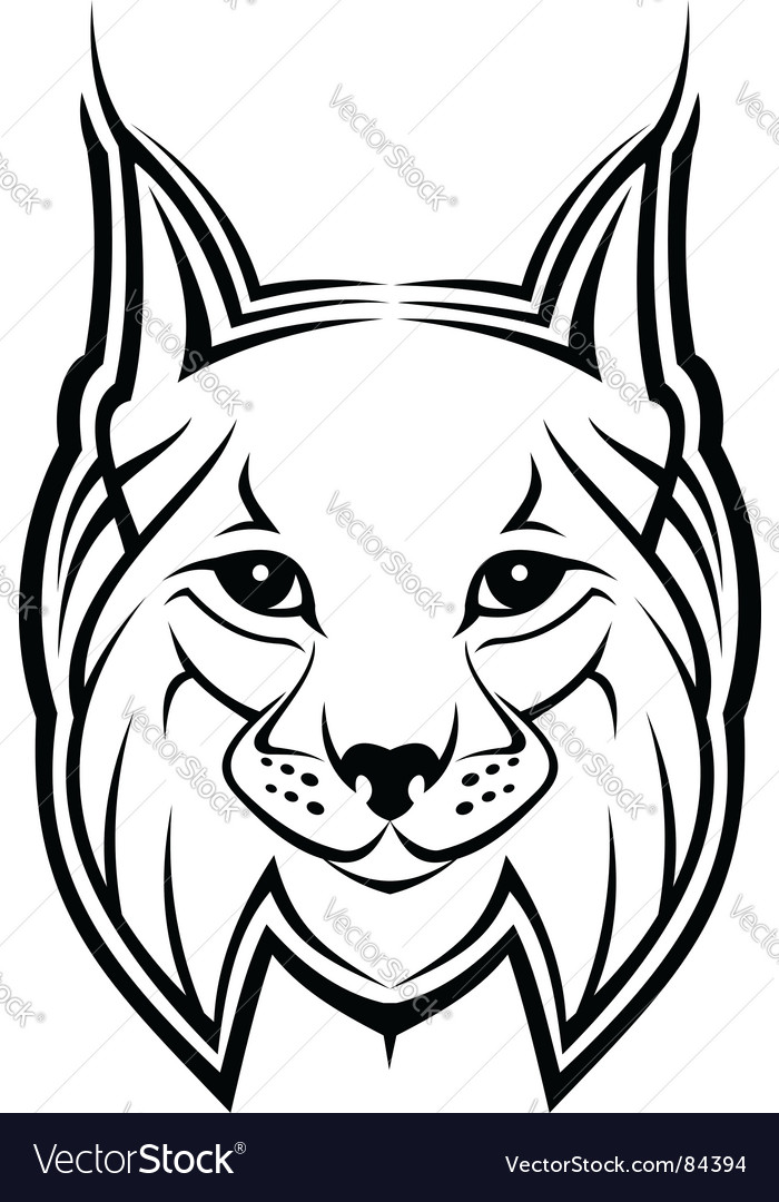 Lynx mascot vector | Price: 1 Credit (USD $1)