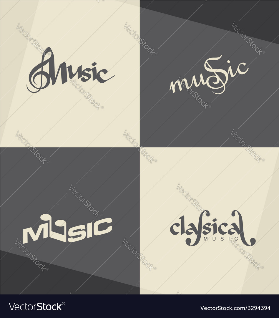 Music logo designs vector | Price: 1 Credit (USD $1)