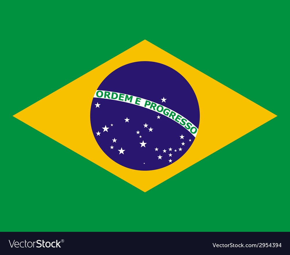 Official national flag of brazil vector | Price: 1 Credit (USD $1)