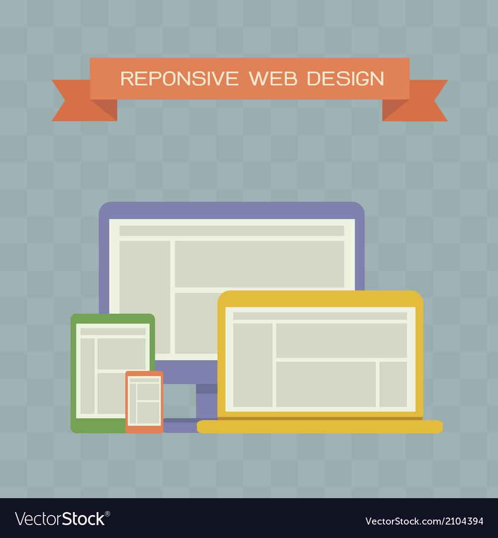 Responsive web design vector | Price: 1 Credit (USD $1)