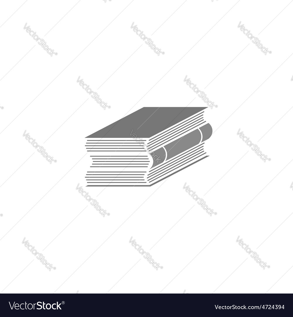 Stack of books logo education mockup grey icon vector | Price: 1 Credit (USD $1)