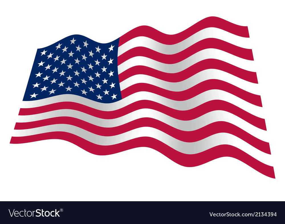 Usa flag waving vector | Price: 1 Credit (USD $1)