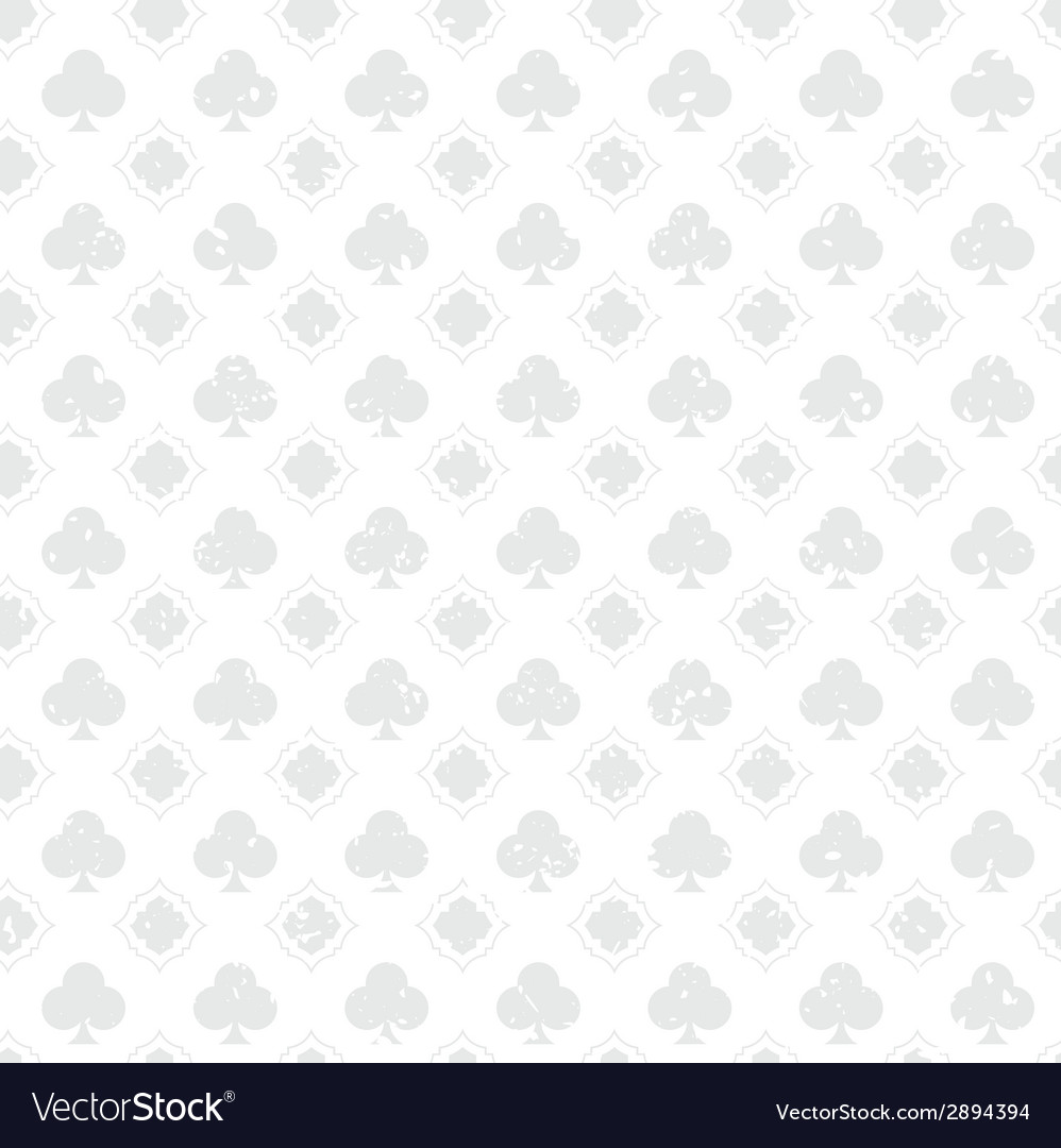 White vintage poker clubs distressed background vector | Price: 1 Credit (USD $1)
