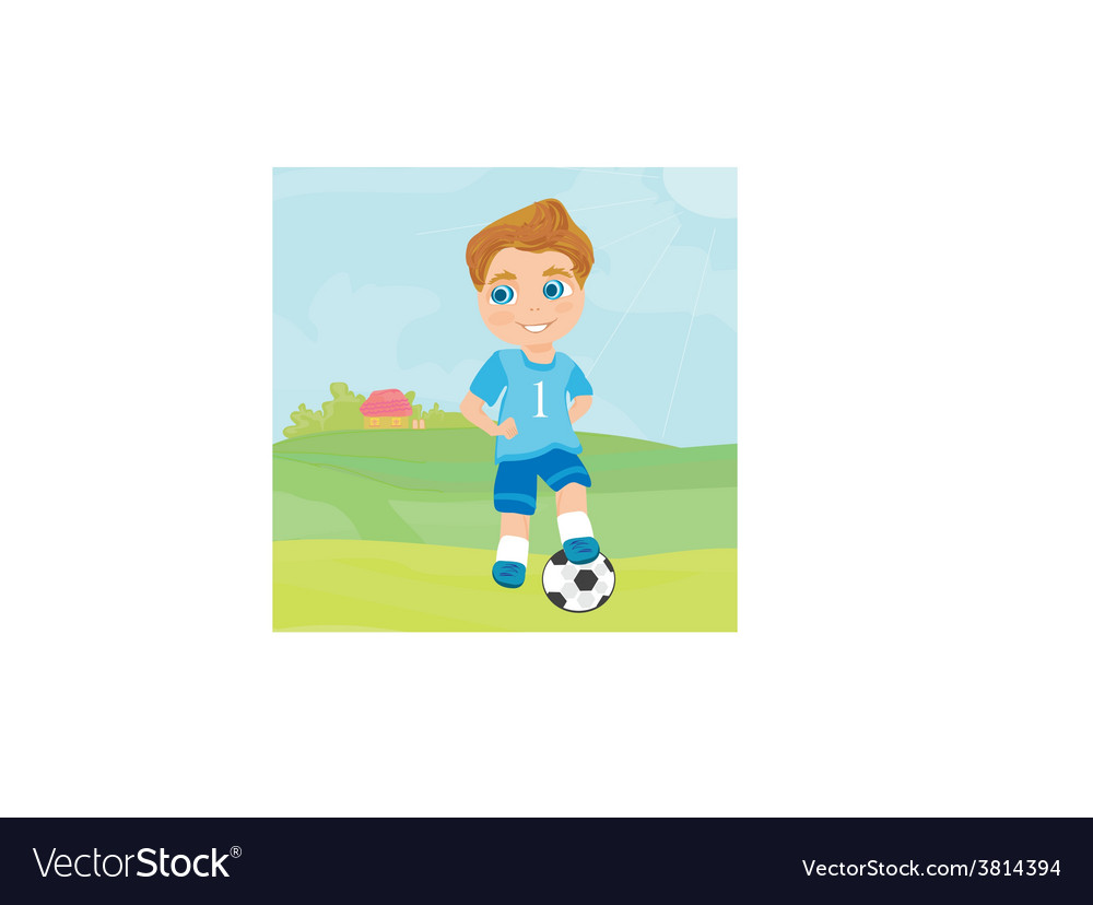 Young soccer player vector | Price: 1 Credit (USD $1)