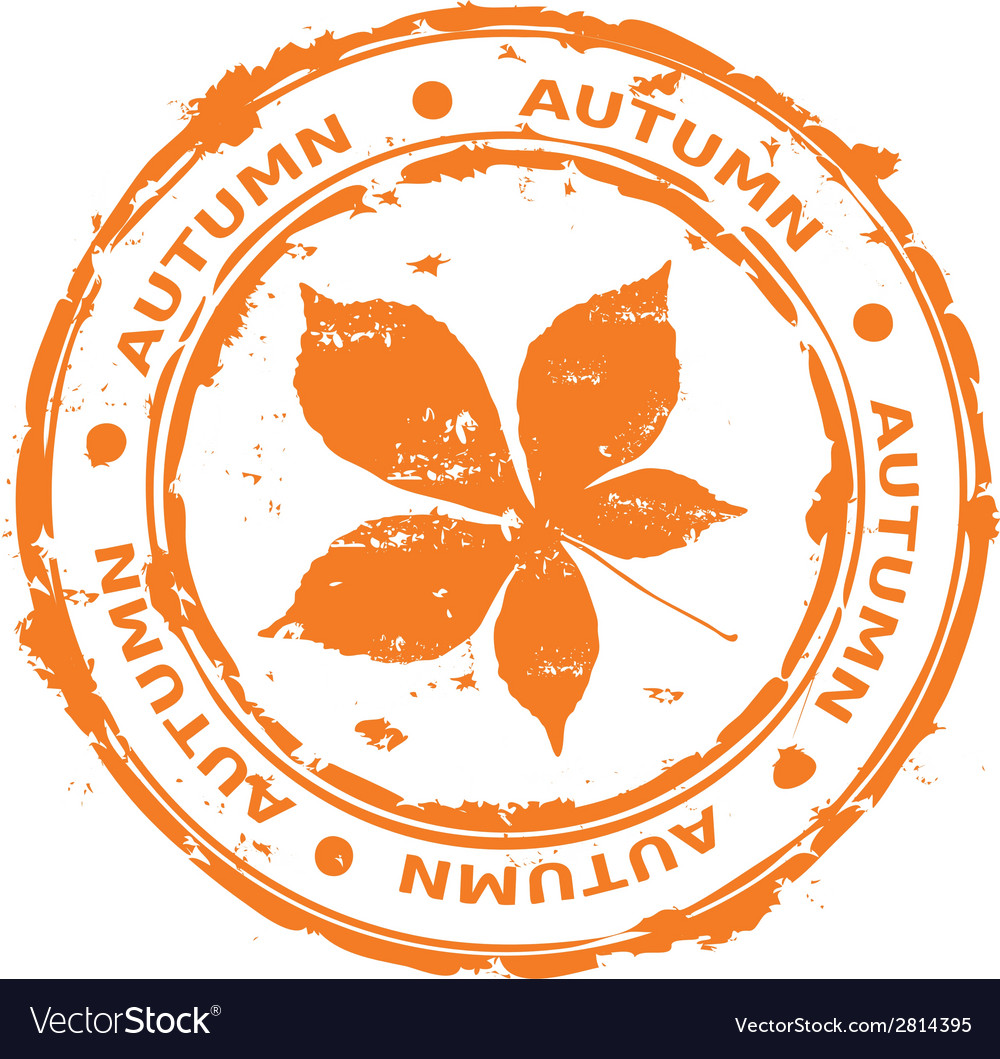 Autumn rubber stamp vector