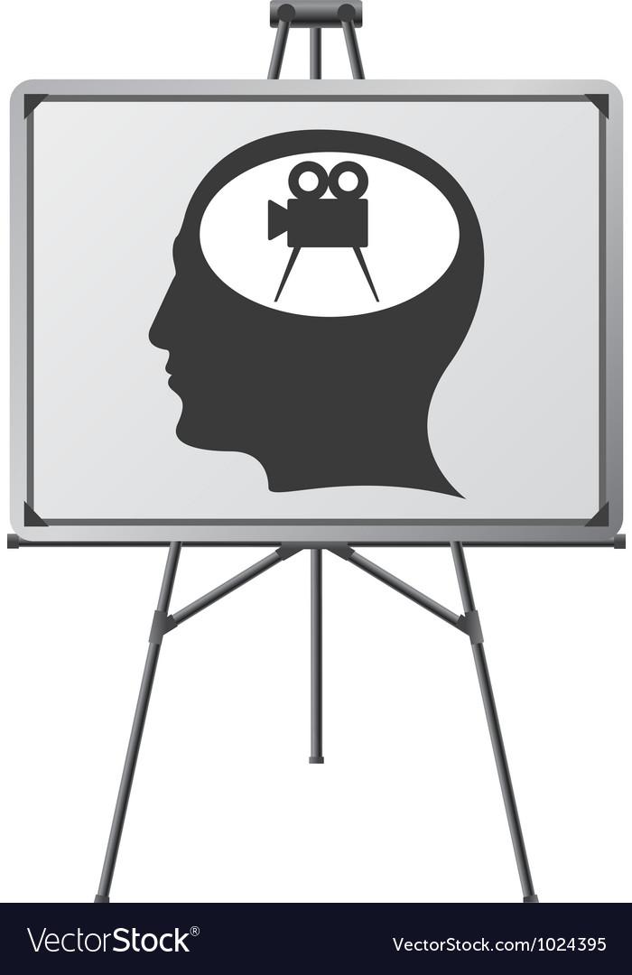 Cinema brain of a man vector | Price: 1 Credit (USD $1)