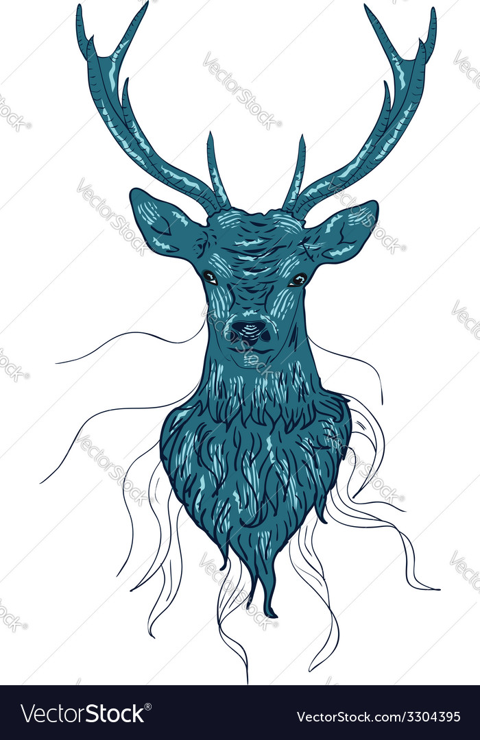 Deer head2 vector | Price: 1 Credit (USD $1)