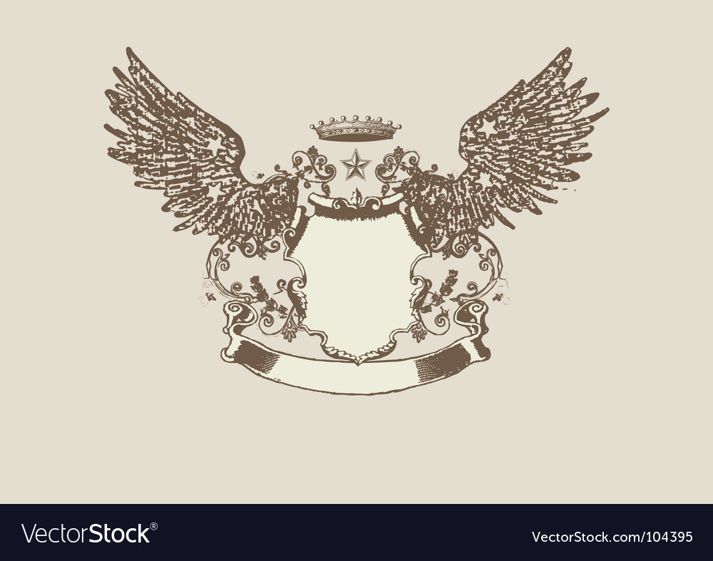 Heraldic shield vector | Price: 1 Credit (USD $1)