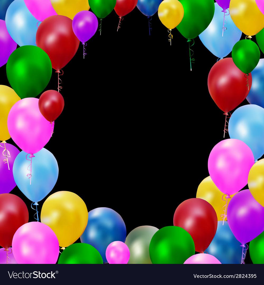 Multicolored balloons vector | Price: 1 Credit (USD $1)