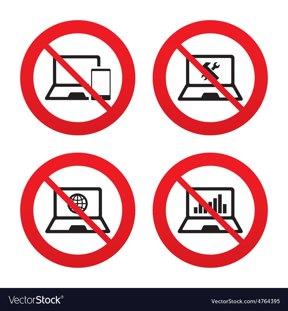 Notebook laptop pc icons repair fix service vector | Price: 1 Credit (USD $1)