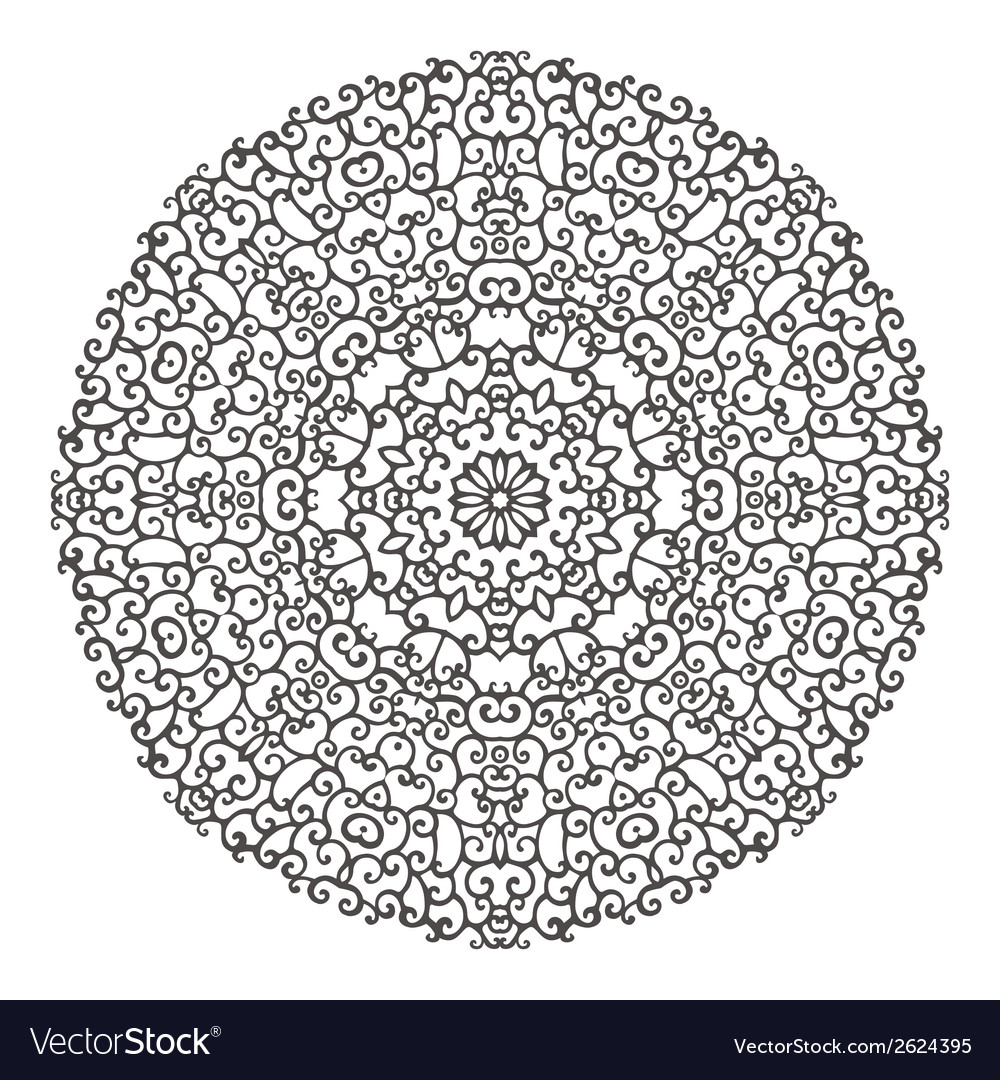 Round mandala kaleidoscopic lace ornamental vector | Price: 1 Credit (USD $1)