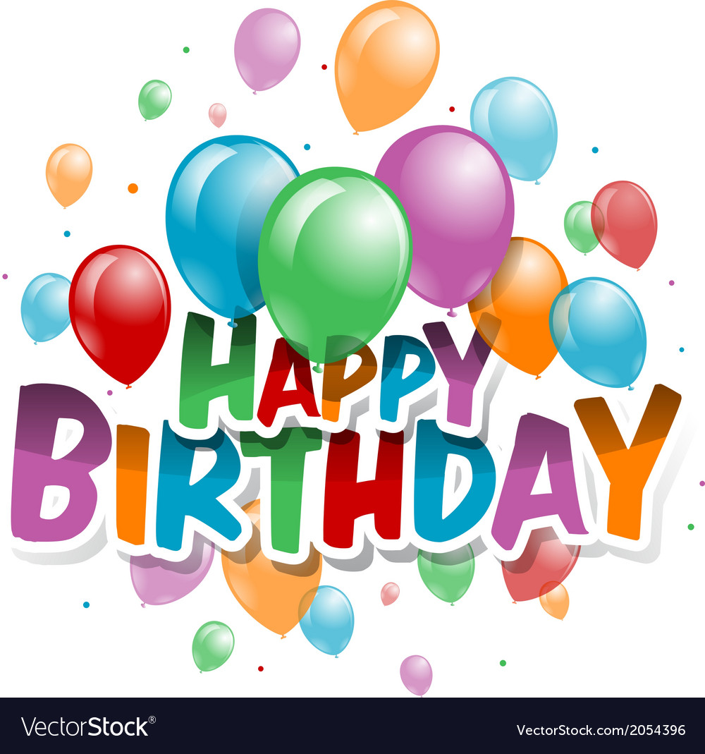 A happy birthday card vector | Price: 1 Credit (USD $1)