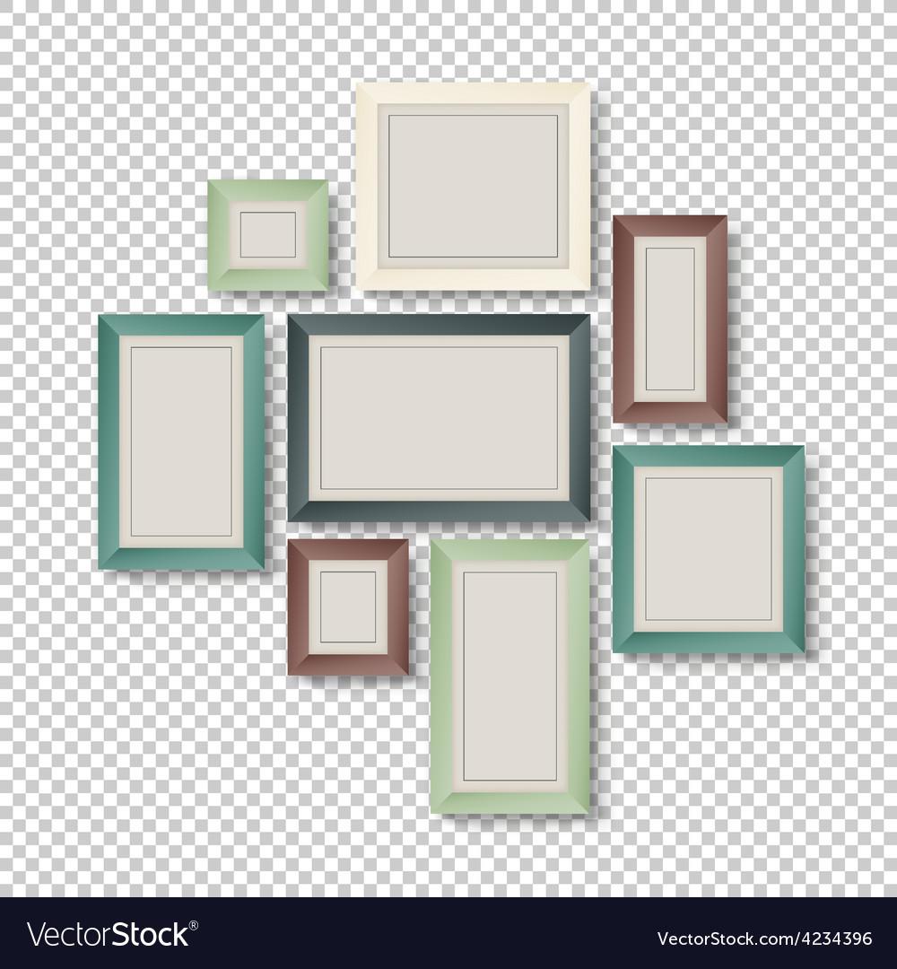 Art frames on transparent vector | Price: 1 Credit (USD $1)