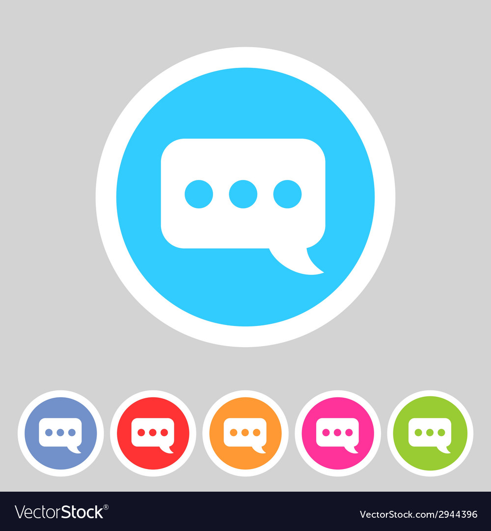 Chat speech bubble flat icon vector | Price: 1 Credit (USD $1)