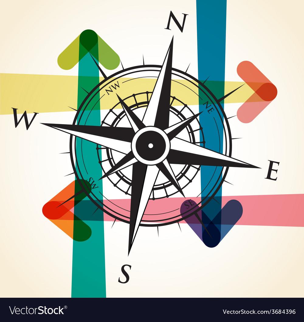 Compass arrows vector | Price: 1 Credit (USD $1)