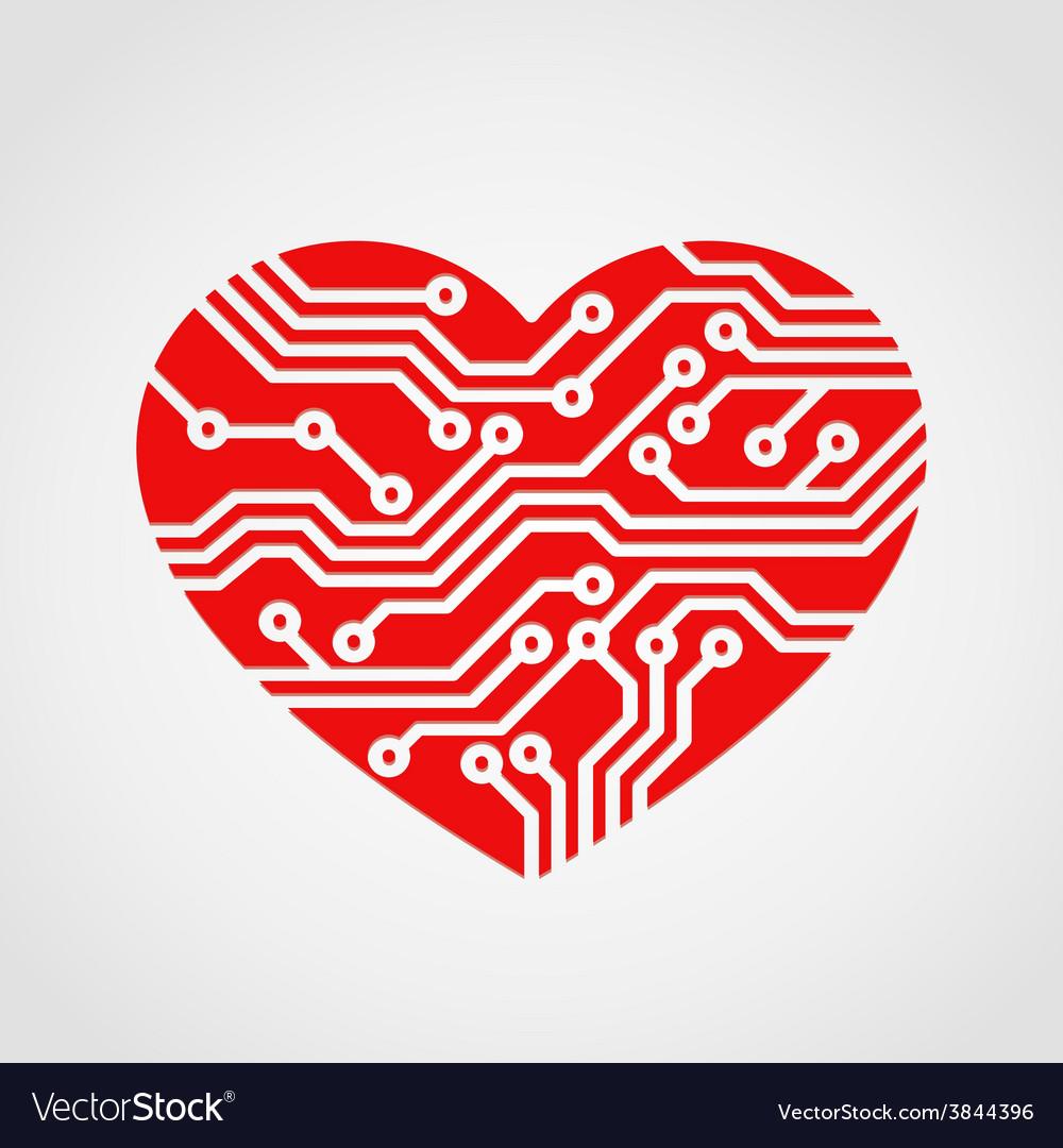 Digital heart vector   Price: 1 Credit (USD $1)