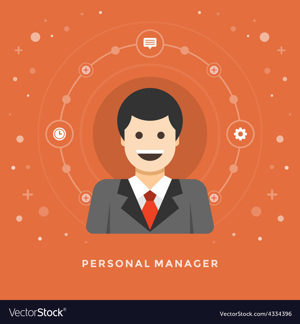 Flat design business concept personal manage vector | Price: 1 Credit (USD $1)