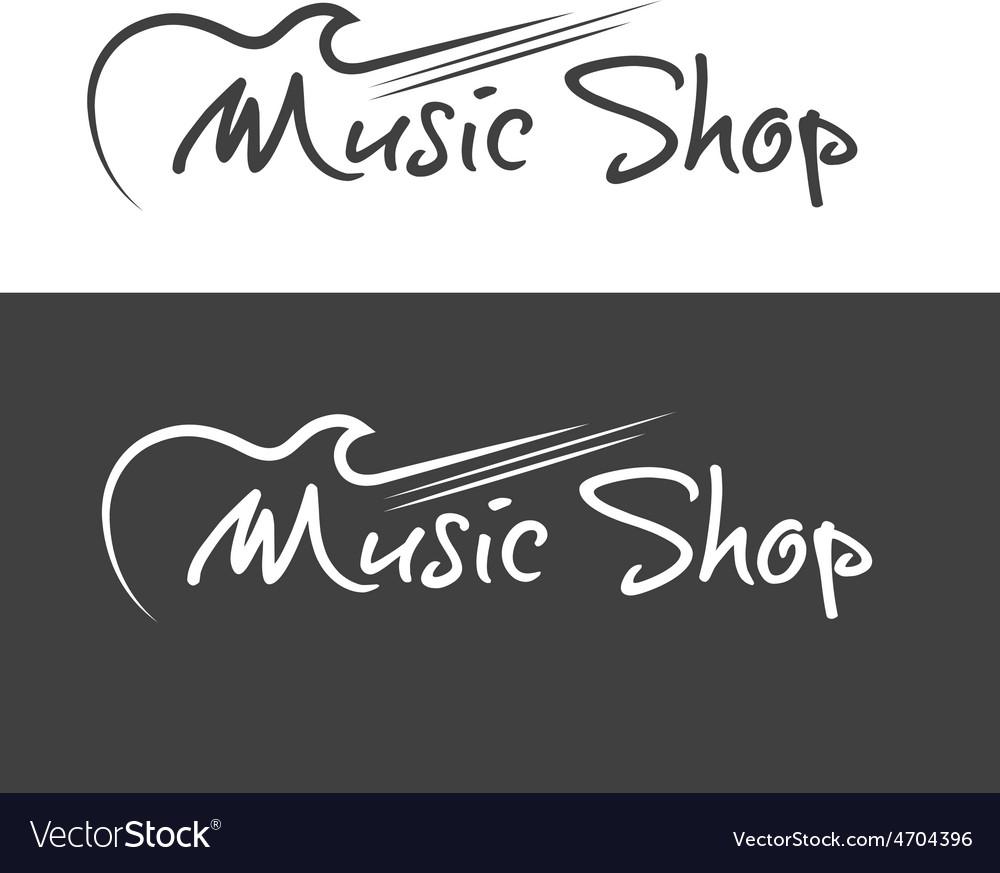Music shop design template vector   Price: 1 Credit (USD $1)
