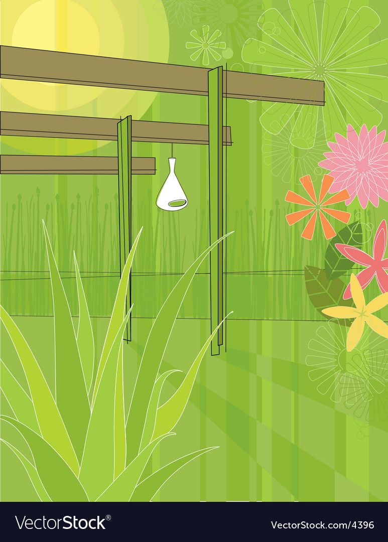 Outdoor patio vector | Price: 3 Credit (USD $3)