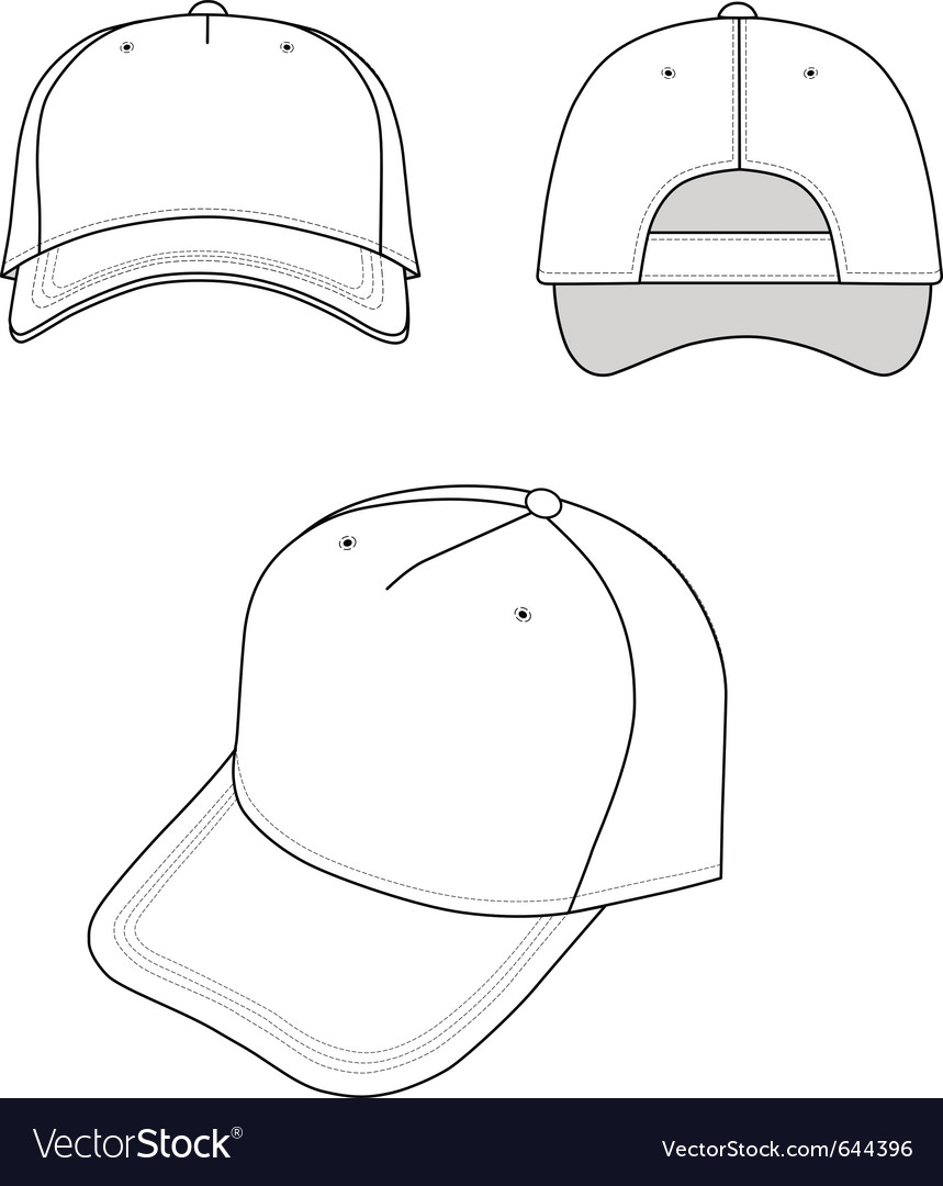 Outline cap vector | Price: 1 Credit (USD $1)