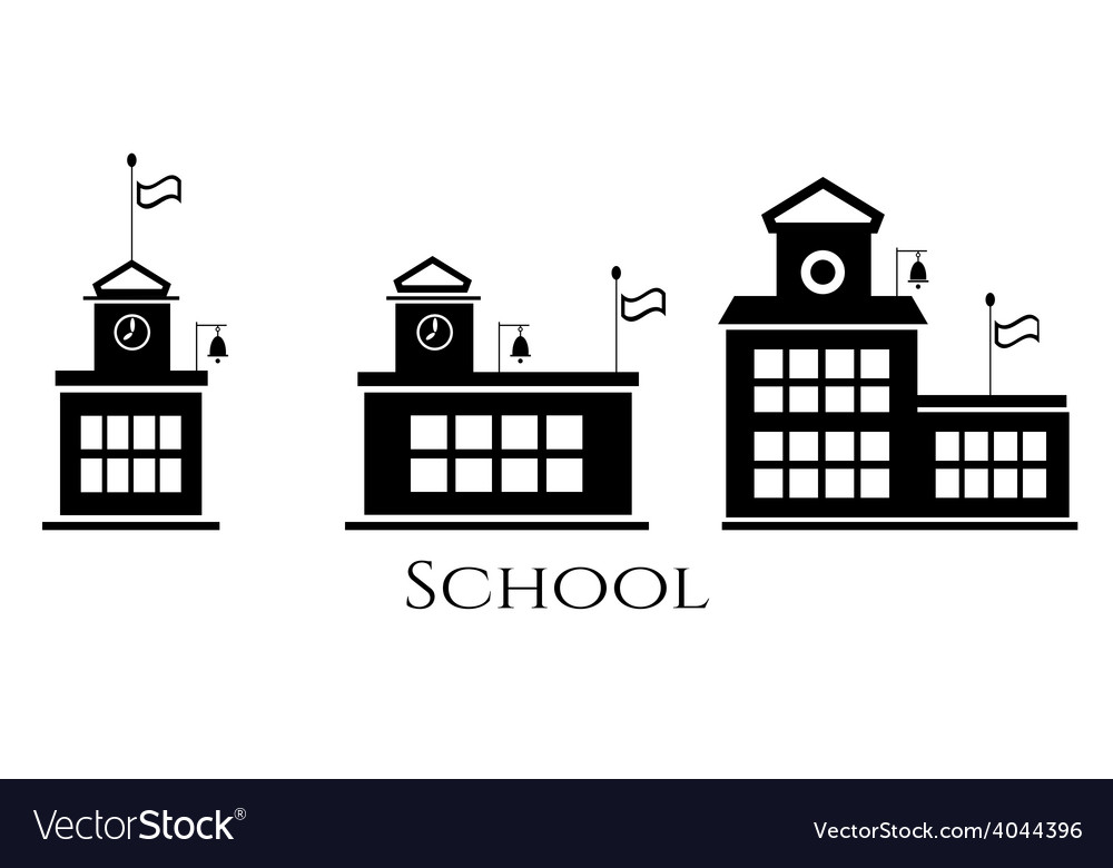 Picture of three school buildings vector | Price: 1 Credit (USD $1)