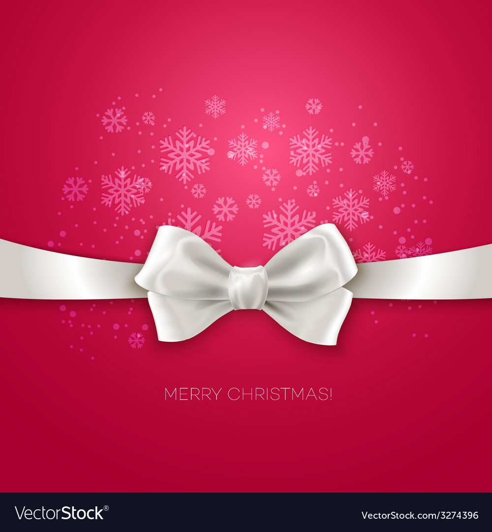 Pink christmas background ribbon with white silk vector | Price: 1 Credit (USD $1)