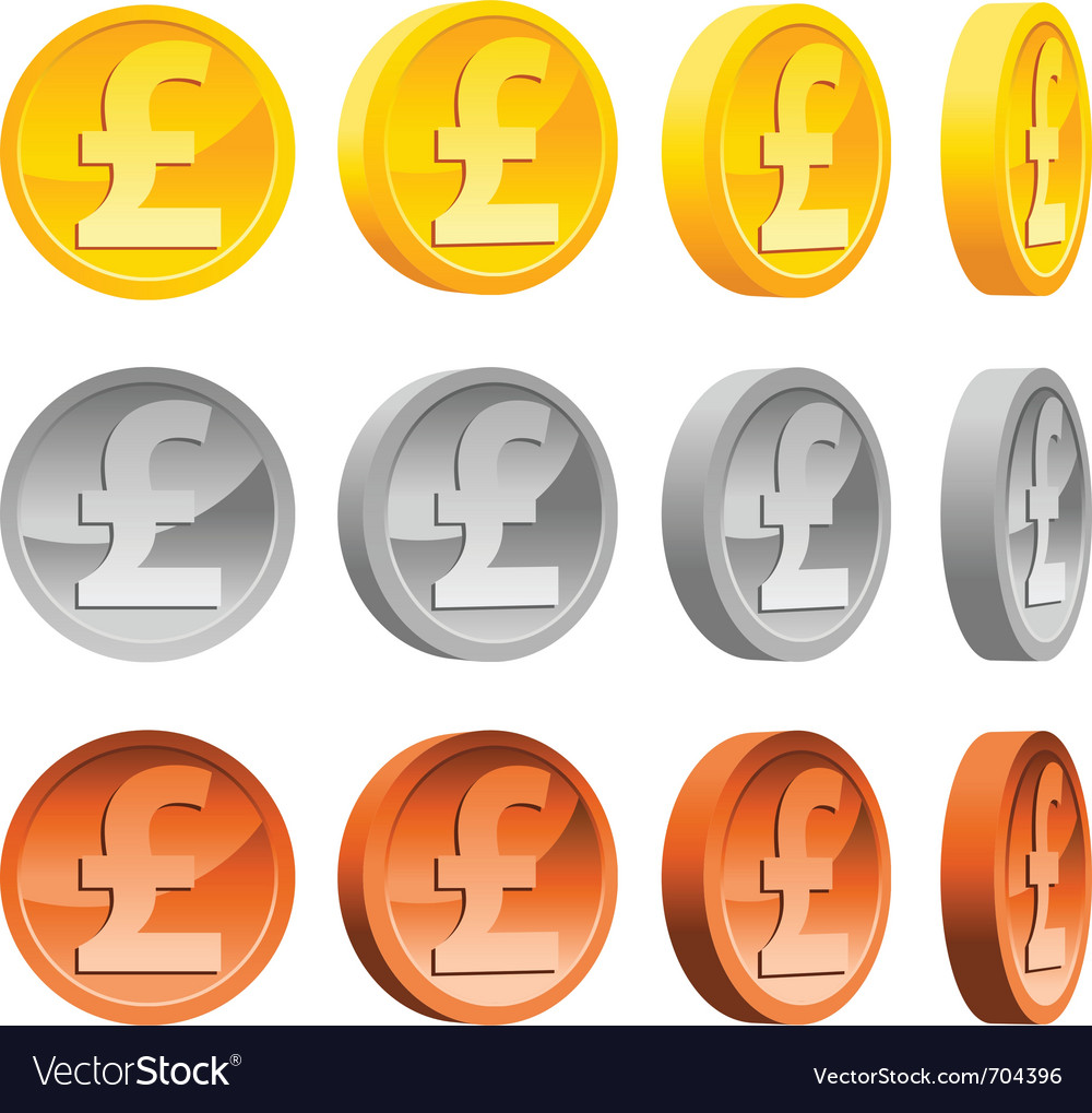 Pound coins vector | Price: 1 Credit (USD $1)