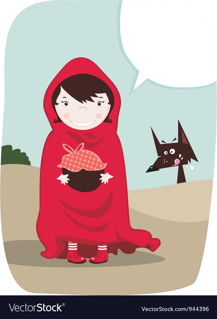 Red riding hood vector | Price: 3 Credit (USD $3)