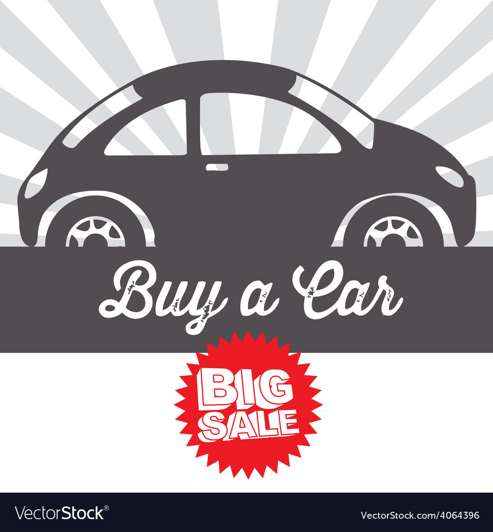 Sale car design vector | Price: 1 Credit (USD $1)