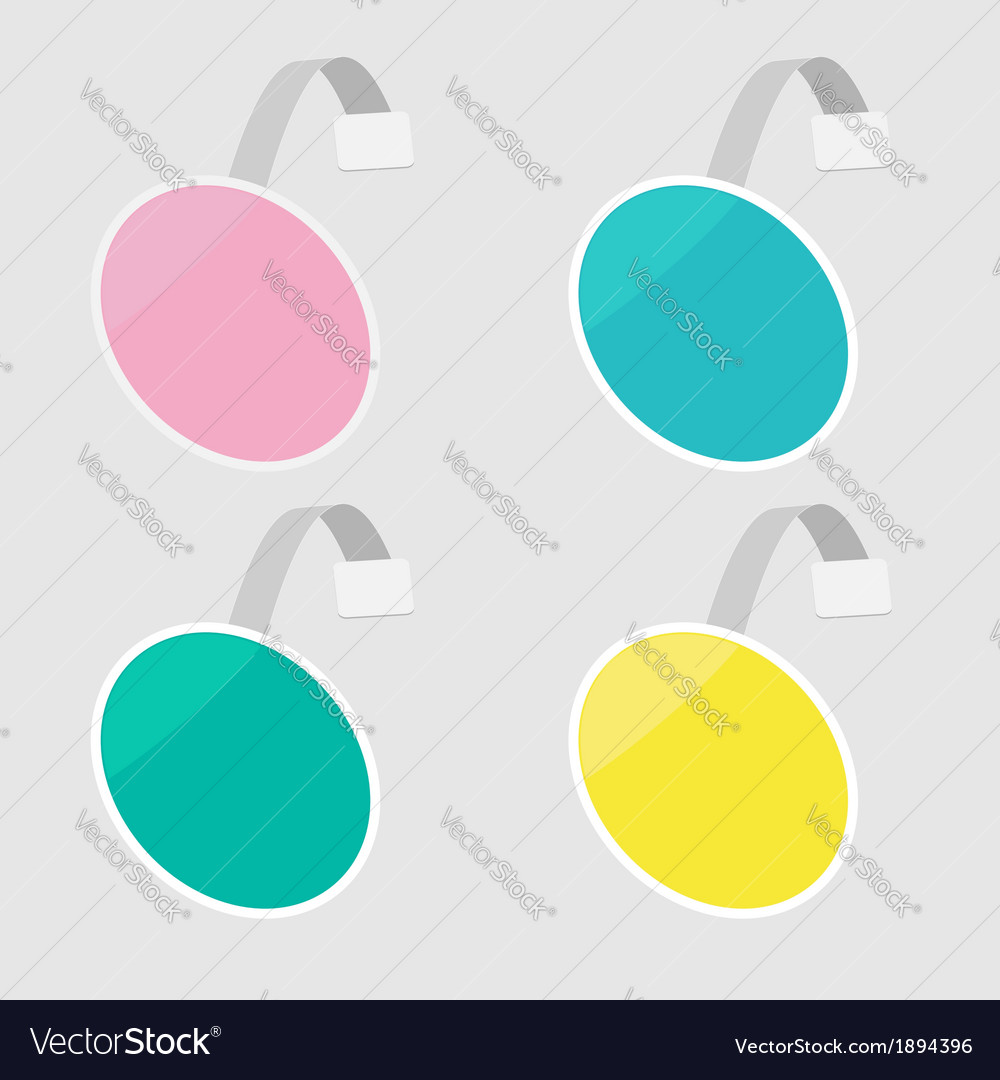 Set of round wobblers empty template flat design vector | Price: 1 Credit (USD $1)