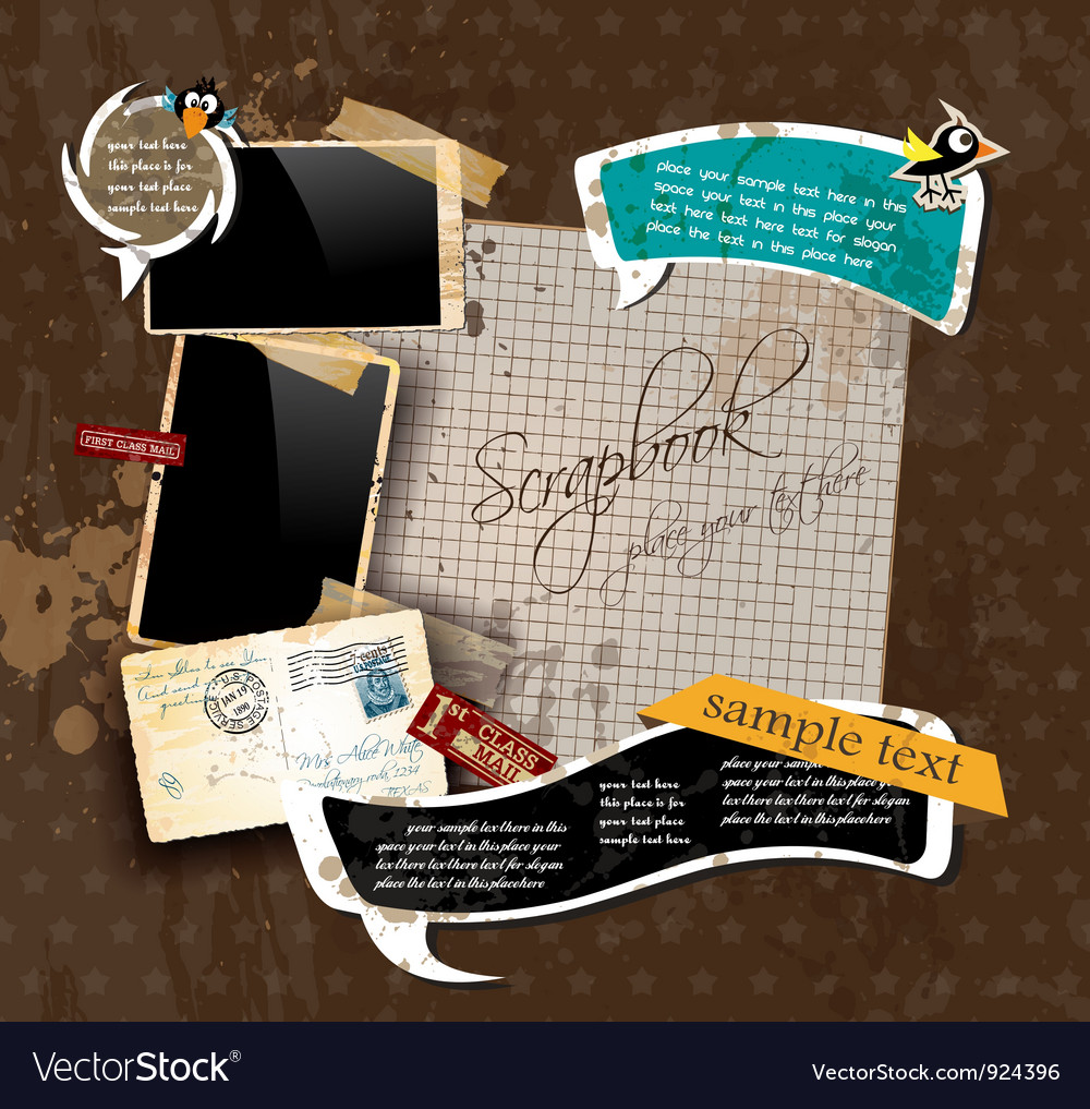 Vintage scrapbook vector | Price: 3 Credit (USD $3)