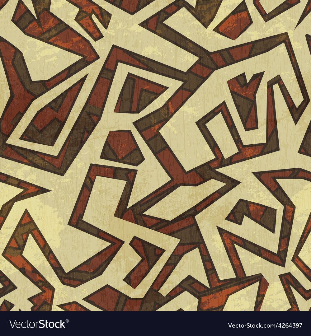 Ancient seamless pattern with grunge effect vector | Price: 1 Credit (USD $1)