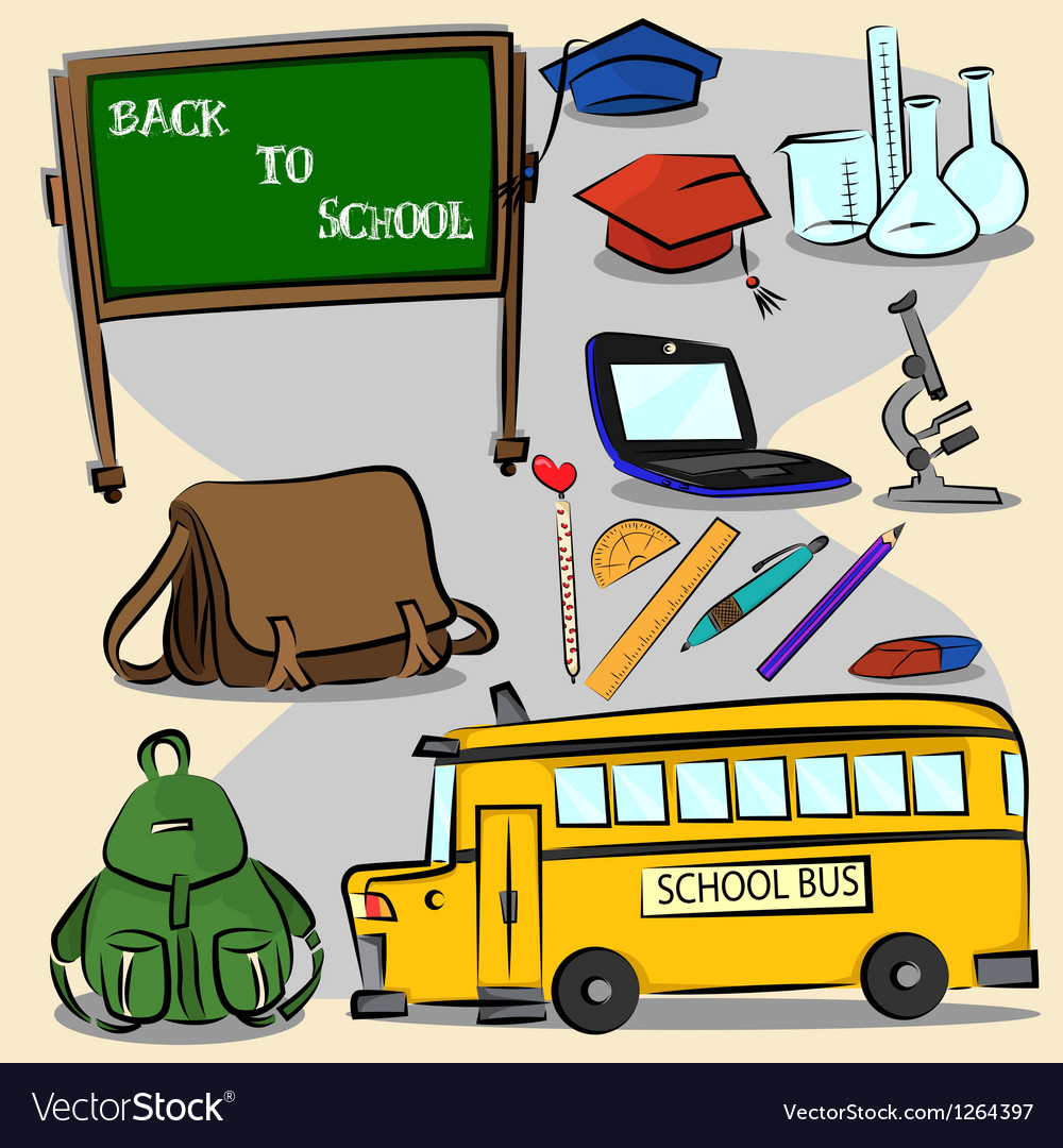 Back to school stroke version 2 vector | Price: 3 Credit (USD $3)
