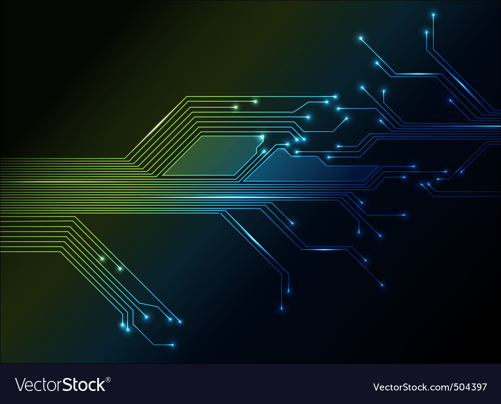 Electronic circuit abstract background vector | Price: 1 Credit (USD $1)