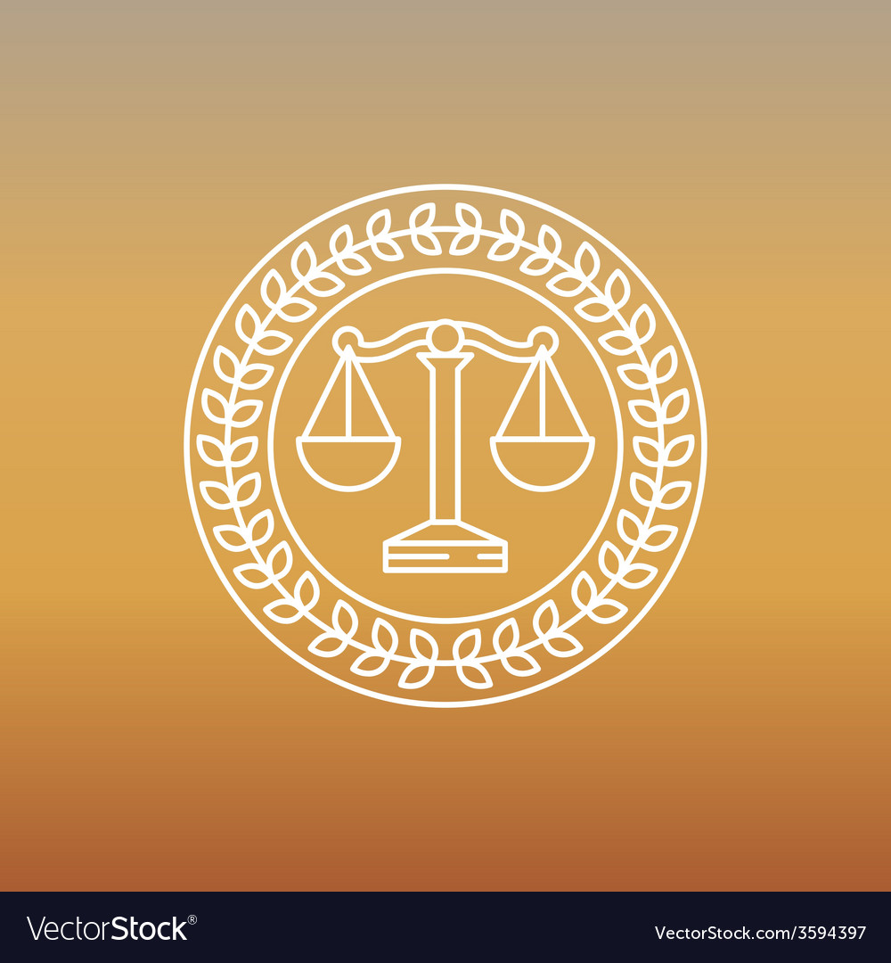 Juridical and legal logo and sign vector | Price: 1 Credit (USD $1)