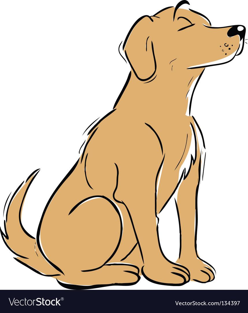 Labrador vector | Price: 1 Credit (USD $1)