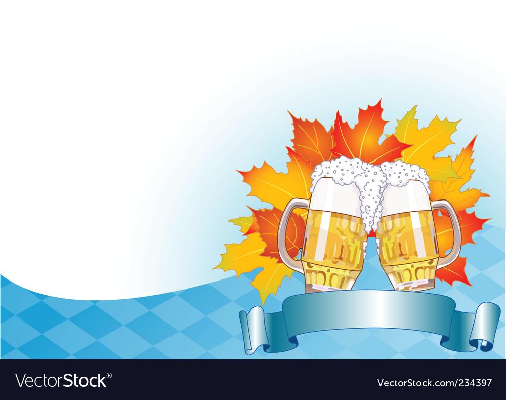 Oktoberfest celebration background vector | Price: 1 Credit (USD $1)
