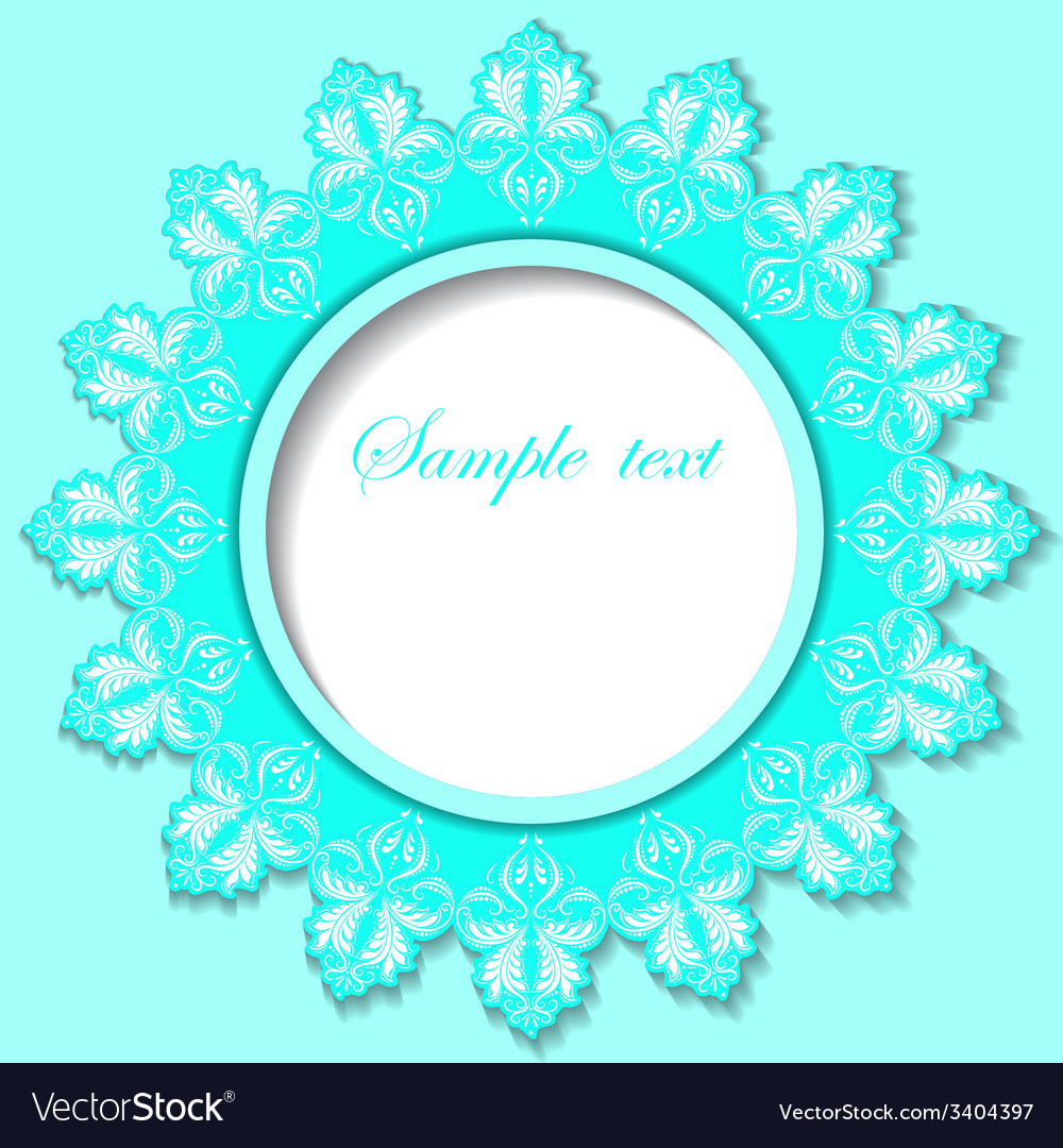 Paper round frame with floral pattern vector | Price: 1 Credit (USD $1)