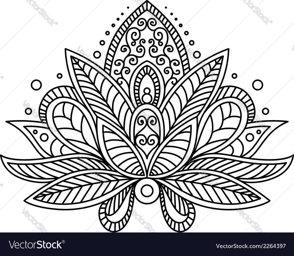 Persian or turkish paisley flower vector | Price: 1 Credit (USD $1)