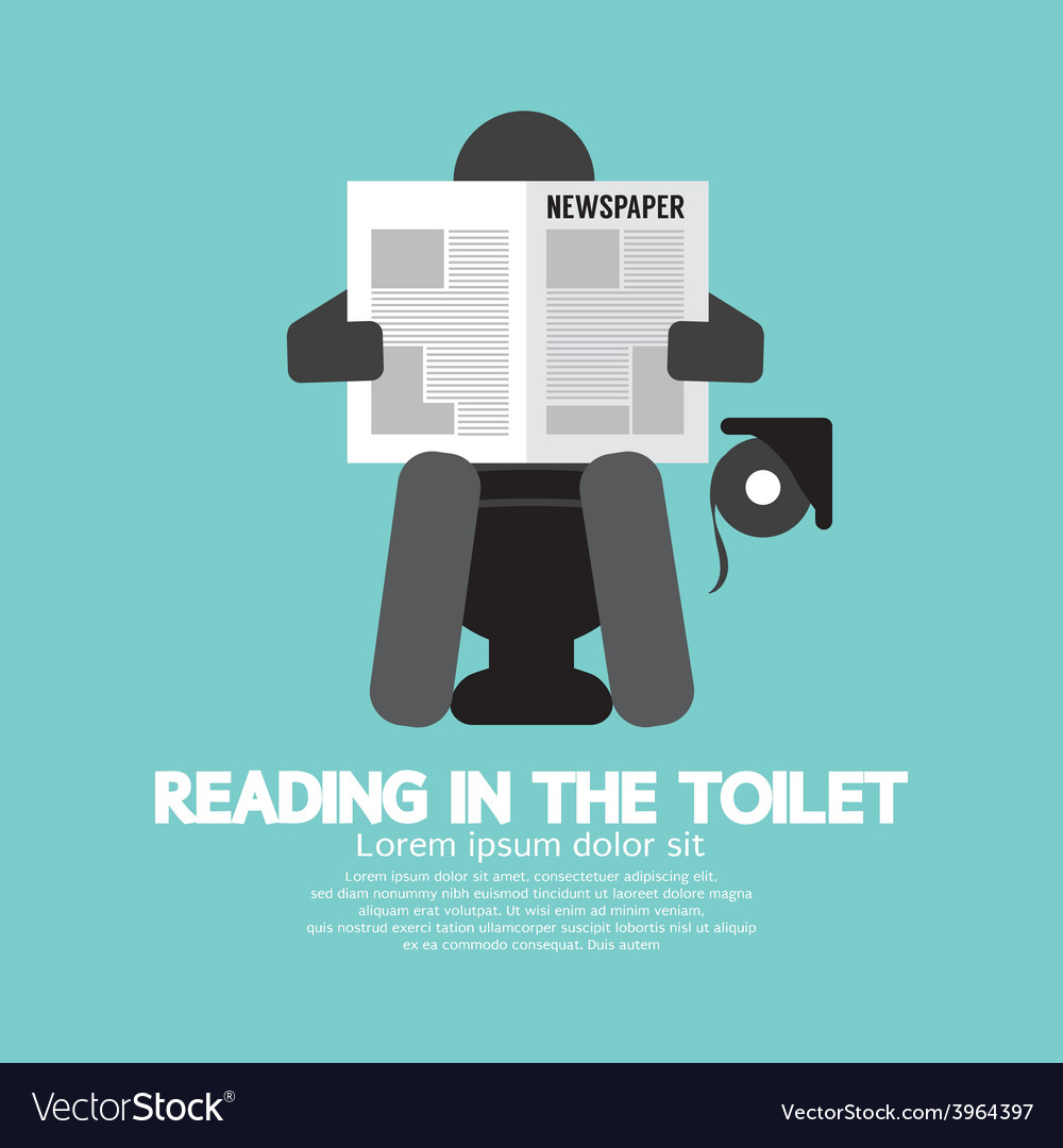 Reading in the toilet symbol vector | Price: 1 Credit (USD $1)